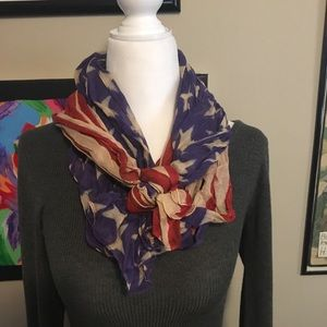 🇺🇸 urban outfitters American Flag Scarf